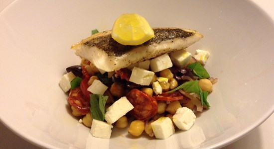 Roasted Hake with Chickpea, Feta and Red Onion - Fishbox