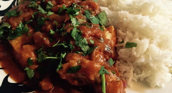 Fried Pollock Tomato Curry