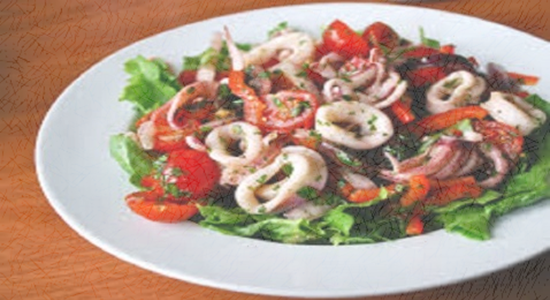 Pan Fried Squid with Chili and Rocket - Fishbox