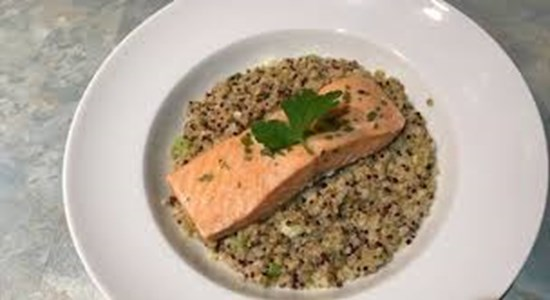 Poached Tarragon Sea Trout with Quinoa
