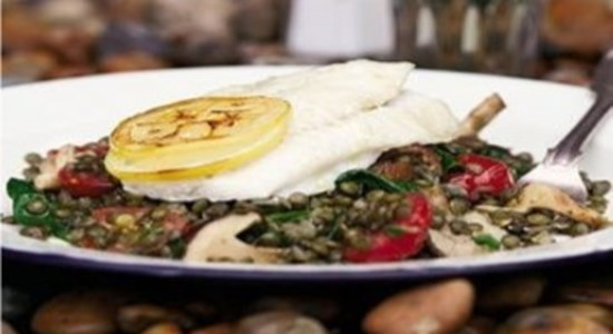 Roast Brill with Puy Lentils & Shitake Mushrooms- Fishbox