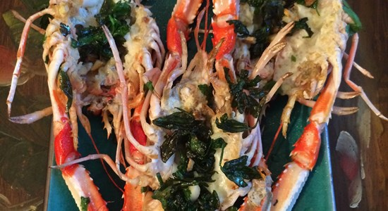Langoustines with a Garlic and Parsley Glaze