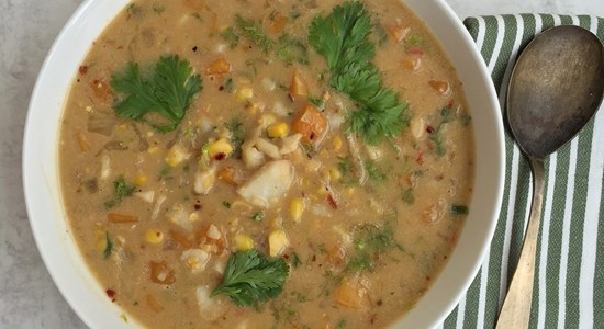 Squash and Smoked Haddock Chowder