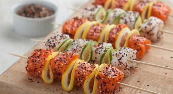 Mara Seaweed Furikake & Citrus Marinated Fish Skewers