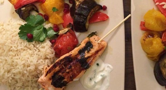 Georgian Salmon Shashlik