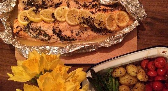 Baked Sea Trout with Thyme