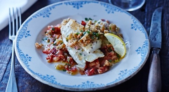 Sea Bass with Bacon and Tomatoes