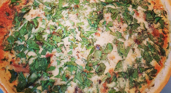 Smoked Mackerel & Spinach Quiche
