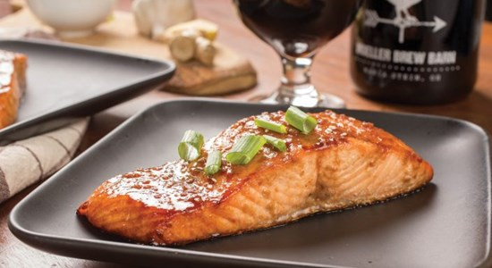 Ginger-Glazed Salmon with Charred Broccoli