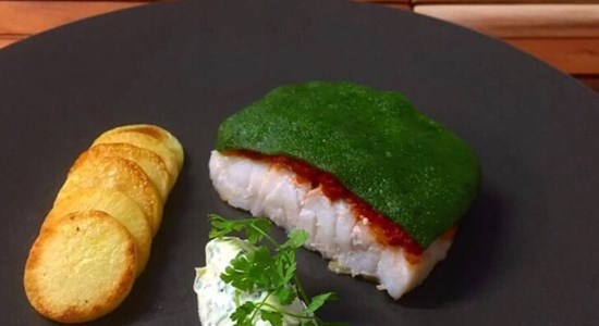 Fillet of Coley, Tomato and Soft Parsley Crust