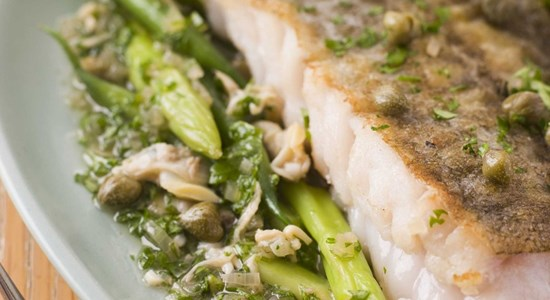 Brill and Green Pea Salsa