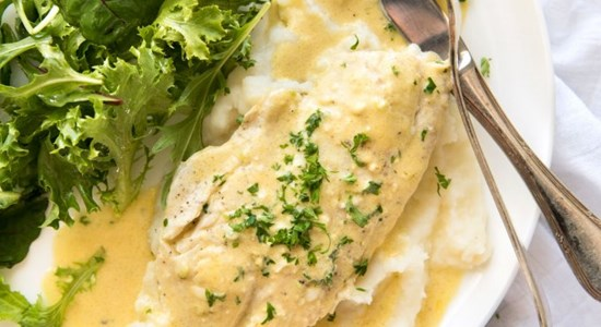 Torbay Sole with Sorrel Sauce