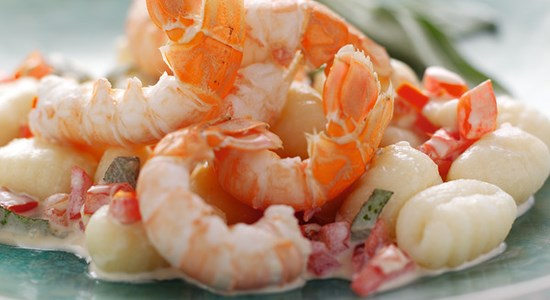 Langoustine with Goat's Cheese Gnocchi