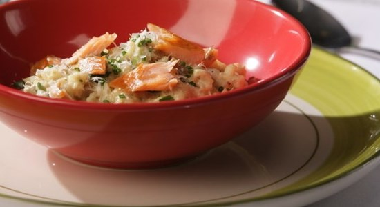 Crab and Trout Risotto